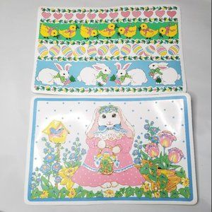 VTG Barth & Dreyfuss Easter Bunny  8 PC Placemat